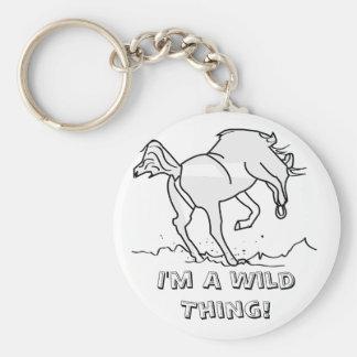 I'm A Wild Thing! Basic Round Button Keychain