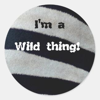 I'm a wild thing classic round sticker