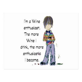 I'm a Wine enthusiast Postcard