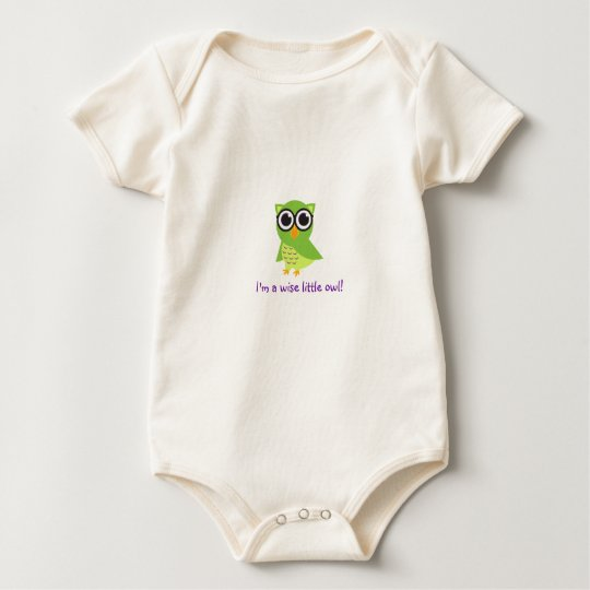 """""""I'm a wise little owl - customize it! Baby Bodysuit"""