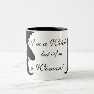 I'm a Witch but I'm a Woman_mug Two-Tone Coffee Mug