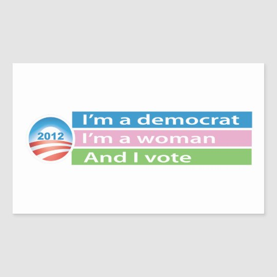 I'm a Woman and I Vote! Rectangular Sticker