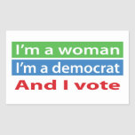 I'm a Woman and I Vote! Stickers