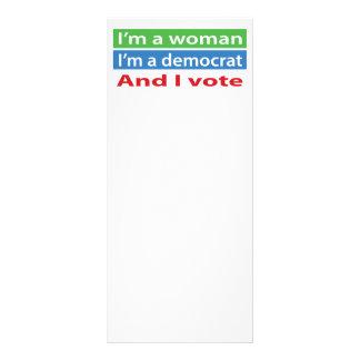 I'm a Woman, I'm a Democrat, and I Vote! Rack Card