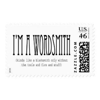 I'm a wordsmith (kinda like a blacksmith...) stamp