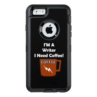 I'M A Writer, I Need Coffee! OtterBox Defender iPhone Case