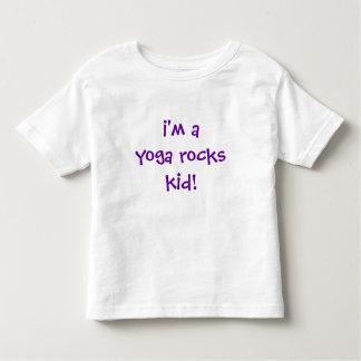 i'm a yoga rocks kid! toddler t-shirt