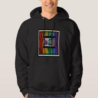 I'm a Zebra Black Hooded Sweatshirt