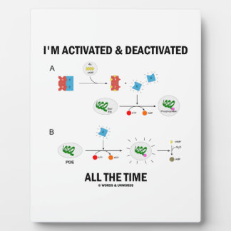 I'm Activated And Deactivated All The Time Biology Plaque