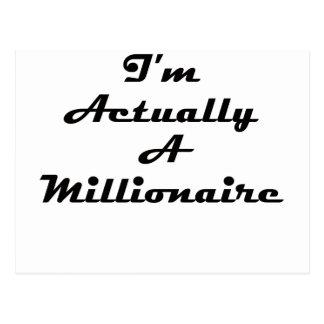 I'm Actually A Millionaire Postcard