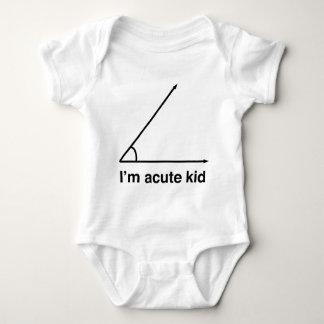 I'm acute kid for math geeks baby bodysuit