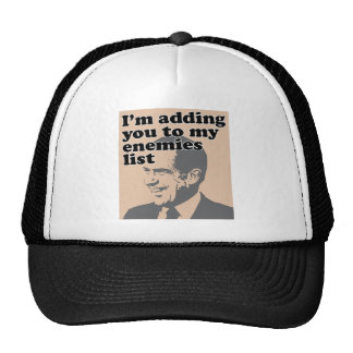 I'm Adding You To My Enemies List Mesh Hats