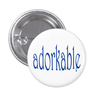 I'm adorkable 1 inch round button