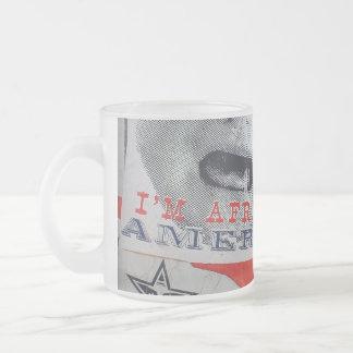 I'm Afraid of America 10 Oz Frosted Glass Coffee Mug