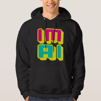 IM AI - I Am General Artificial Intelligence, Glow Hoodie