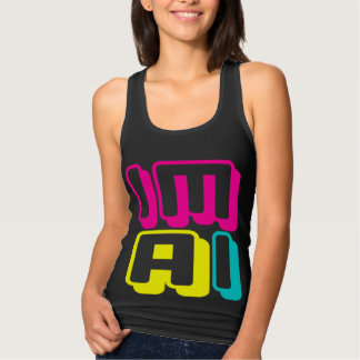 IM AI - I Am General Artificial Intelligence, Neon Tank Top