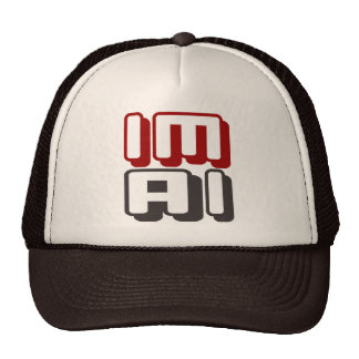 IM AI - I Am General Artificial Intelligence, Red Trucker Hat