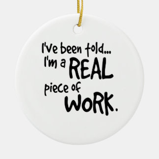 Im al pedazo de trabajo real adorno navideño redondo de cerámica
