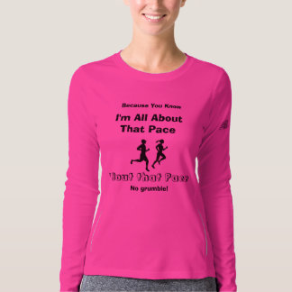 I'm All About That Pace - New Balance LS Running T-shirt