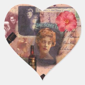 I'm All at Sea Heart Sticker