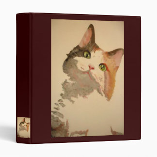 I'm All Ears: Calico Cat Portrait Binder