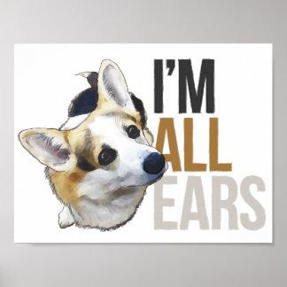 I'm All Ears - Welsh Corgi Poster