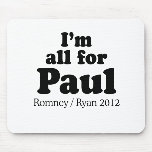 I'M ALL FOR PAUL RYAN.png Mouse Pad