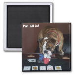 I'm all in! 2 inch square magnet