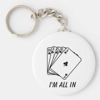 I'm all in Apron Key chain