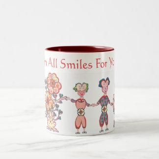 I'm All Smiles For You! (TM) Two-Tone Coffee Mug