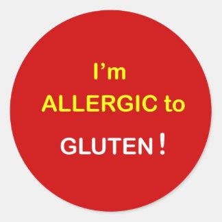 I'm Allergic - GLUTEN. Classic Round Sticker