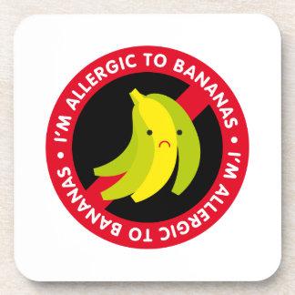 I'm allergic to bananas! Banana allergy Coaster