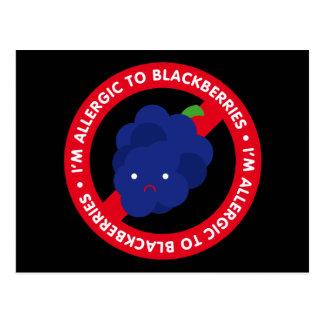 I'm allergic to blackberries! postcard