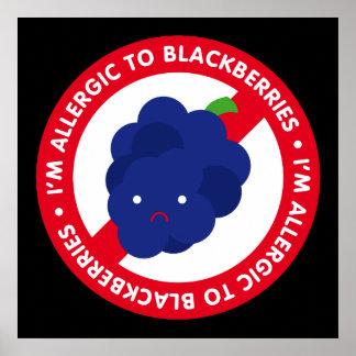 I'm allergic to blackberries! poster