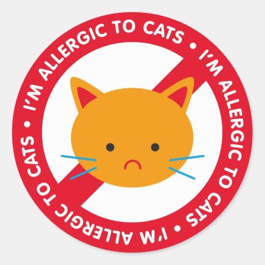 I'm allergic to cats! Cat allergy Classic Round Sticker