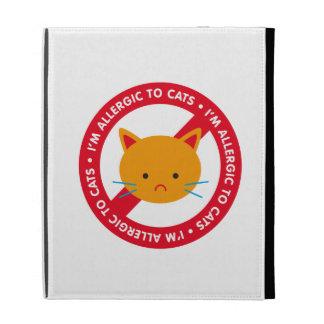I'm allergic to cats! Cat allergy iPad Folio Cases
