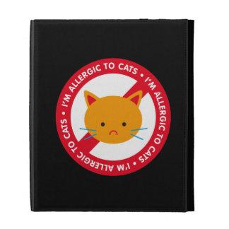 I'm allergic to cats! Cat allergy iPad Folio Cover
