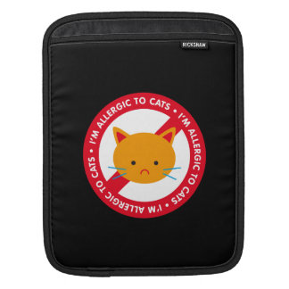 I'm allergic to cats! Cat allergy iPad Sleeves