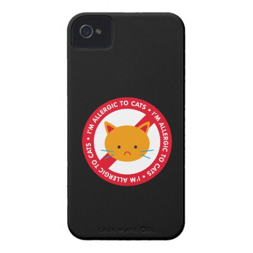 I'm allergic to cats! Cat allergy iPhone 4 Case-Mate Cases