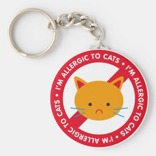 I'm allergic to cats! Cat allergy Basic Round Button Keychain
