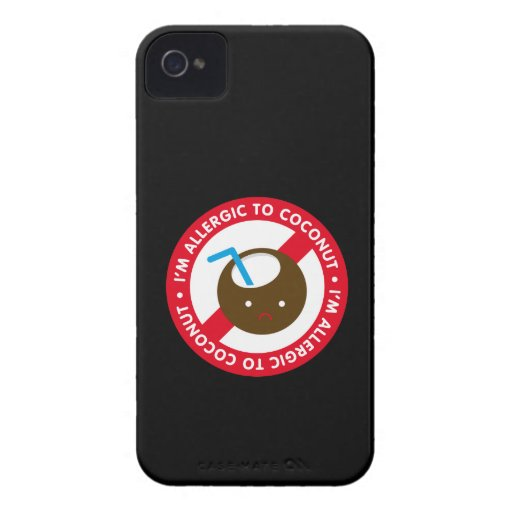 I'm allergic to coconuts! Coconut allergy iPhone 4 Case-Mate Cases
