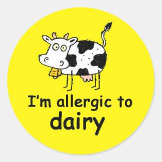 I'm allergic to dairy cow sticker