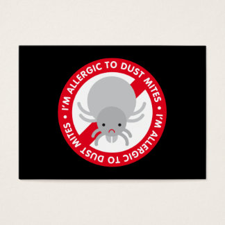 I'm allergic to dust mites! bookmark business card