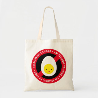 I'm allergic to eggs! canvas bags