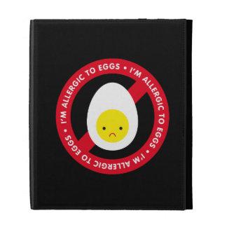 I'm allergic to eggs! iPad folio case