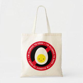 I'm allergic to eggs! tote bag