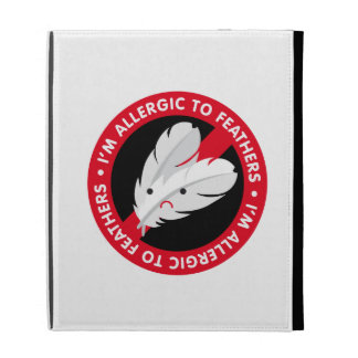 I'm allergic to feathers! Feather allergy iPad Folio Covers