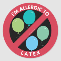 I'm Allergic To Latex Allergy Symbol Kids Classic Round Sticker