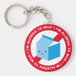 I'm allergic to milk! basic round button keychain