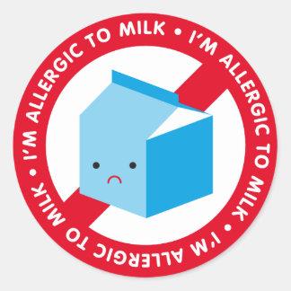I'm allergic to milk! classic round sticker